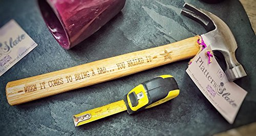 """Gravur Claw Hammer mit Holzgriff-33cm-\""""When it Comes To Being A Dad... Sie genagelt ES\""""-Die perfekte männliche Geschenk"""