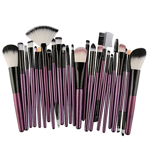 Cenlang Make Up Brushes,25Pcs Professional Premium Makeup Brush Set,Eyeshadow Concealer Eyebrow Cream Liquid Brushes For Foundation,Make Up Brushes,Professional Cosmetics Essential Makeup Brush Set -