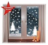 das-label Fensterbild -Wintermotiv - WIEDERVERWENDBAR - wunderschöne Motive - ohne transparenten Hintergrund - konturgestanzte NEUHEIT 2016