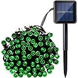 Qedertek Energía Solar 100 LED 12m Cadena de luces Impermeable de 8 Modos de Luces Navideño para Exterior, Hogar, Patio, Jardín, Terraza, Balcón, Fiesta, Navidad, Boda Verde