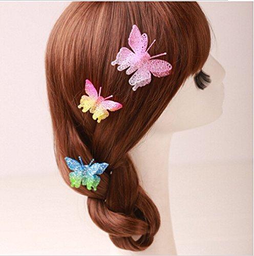 cuhair (TM) 6Hochzeit Party Princess Schmetterling Haar Clip Haar Pin Zubehör für Frauen Mädchen