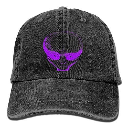 Kotdeqay Purple Alien Denim Hat Adjustable Male Low Baseball Cap ()