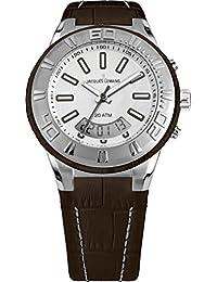 Jacques Lemans Unisex Erwachsene Armbanduhr Multi Zifferblatt Quarz Leder 1-1772D
