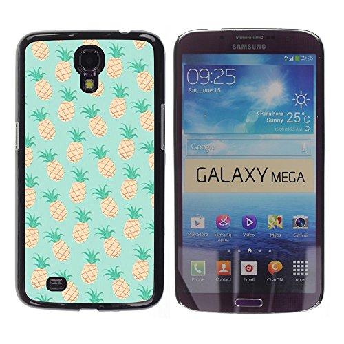 YOYOYO Schwarz Hart Verteidiger Handy Schutz Hülle Bild Etui Case Schale Cover für Samsung Galaxy Mega 6.3 I9200 SGH-i527 - Ananas-Minze 420 Unkraut Cannabis