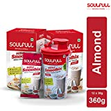 Soulfull Millet Smoothix- Almond Protein Drink, 12 Sachets| Free Shaker