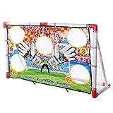 BANDRA Fußball-Tor Stadion 120x50x73.5cm Fußballtor Garten mit Torwand 5 Schusslöcher für Kinder und Erwachsene