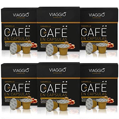 VIAGGIO ESPRESSO - 60 Capsule di Caffè Compatibili con Macchina Nespresso - CARAMELLO