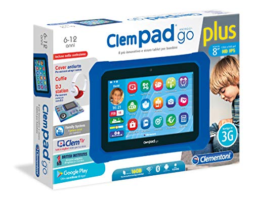 tablet bambini 6 anni Clementoni - Clempad Go Plus CLEN-16614