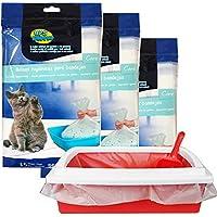 BPS® 45 Bolsas para Bandeja Arena Bolsa Caca Excrementos para Gatos Mascotas, Bolsa de Recambio Inferior Tamaño L Total 45 Bolsas (L: 45 Bolsas) BPS-5468*3