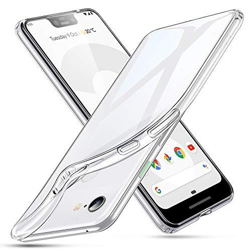 ESR Coque pour Google Pixel 3XL Silicone, Google Pixel 3XL Coque Transparente Gel Silicone TPU Souple, Bumper Housse Etui de Protection Premium pour Google Pixel 3XL (2018) (Série Jelly, Transparent)