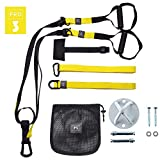 O RLY Allenamento in Sospensione Bodyweight Fitness Resistance Straps Trainer (P3 PRO 3 + Wall Mount)
