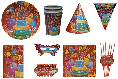ShopAParty Happy Birthday Multicoloured Party Pack