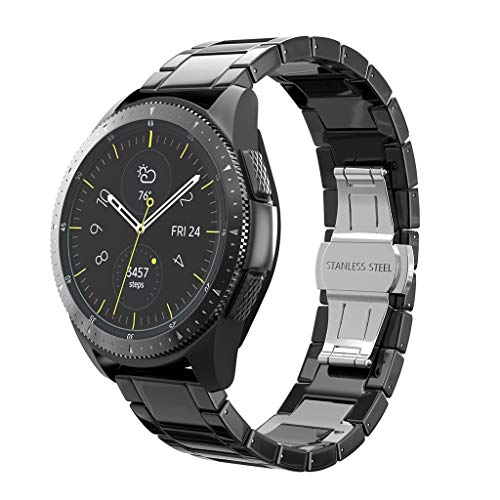 Upxiang Armband für Samsung Galaxy Watch 42 mm/Active 40 mm/Gear S2 Classic/Gear Sport Keramik Quick Release Watch Band Ersatz Wrist Strap Verstellbar Uhrenarmband (A)