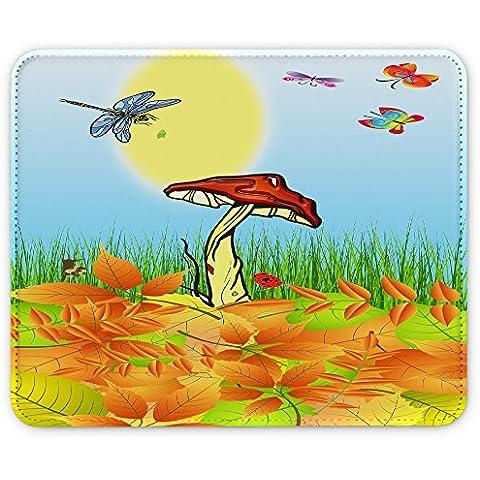Colección 27, Custom adhesivo para MacBook piel de vinilo mangas de diferentes tamaños, Autumn 10011, Leather Mouse Mat