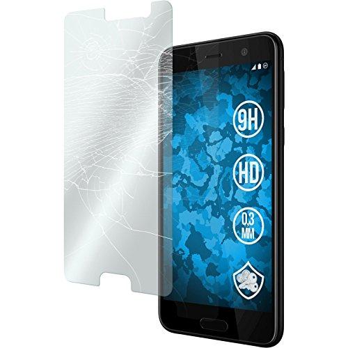 PhoneNatic 2 x Glas-Folie klar kompatibel mit HTC U Play - Panzerglas für U Play