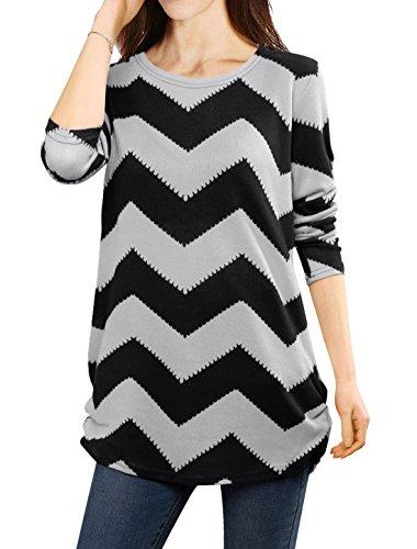 allegra-k-mujer-camiseta-de-punto-con-estampado-de-zigzag-estilo-suelto-negro-gris-m
