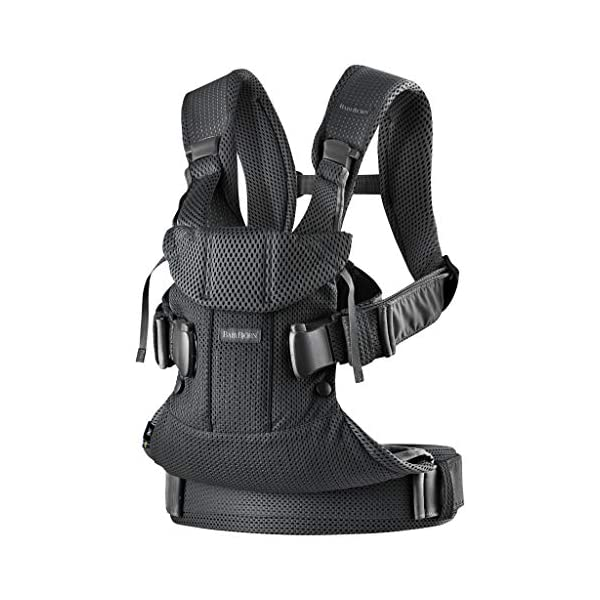 BABYBJÖRN Baby Carrier One Air, 3D Mesh, Black, 2018 Edition Baby Bjorn The latest version (2018) with soft and breathable mesh that dries quickly Ergonomic baby carrier with excellent support 4 carrying positions: facing in (two height positions), facing out or on your back 2