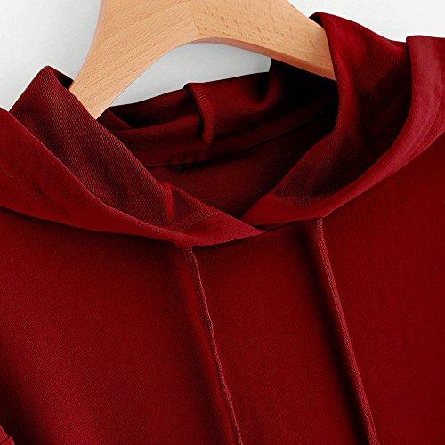 Vêtements LILICAT Sweat-shirt à capuche à manches longues pour femmes Sweat-shirt à capuche Pulls mignons Wine