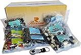 Rexim Lakritz Probierpaket 2000g (5x 400g) | Set inkl. Mint Rocks, Zauberstäbchen, Salzige Seesternchen, Starke Fische, Lakritz Stäbchen