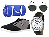 #9: Globalite Combo Men's Casual Shoes GSC0461AMZ with Lotto Watch, Sunglass & Globalite Duffle Bag.
