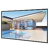 Yaheetech 100'' Rolloleinwand 16:9 Format, 227 x 130 cm Leinwand Beamer leinwand 4K 3D Full-HD für Heimkino/Garten/Outdoor