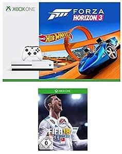 Xbox One S 500GB Konsole - Forza Horizon 3 Hot Wheels Bundle + FIFA 18