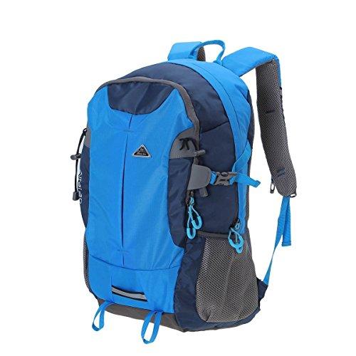 OUTERDO Viaggi Trekking Zaini Zaino - Inserire auricolare Design - leggero zaino impermeabile per escursionismo escursioni in bicicletta Sport 33 * 49 * 14 CM Blu