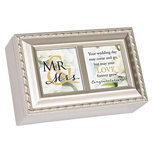 Mr. & Mrs. Forever Congratulations Spieluhr mit Seil, Champagnerfarben (Musik-schmuck-box Für Mama)