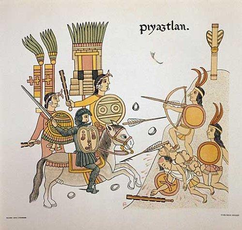 Kunstdruck/Poster: Kolonialgeschichte Lateinamerikas Lienzo de Tlaxcala - hochwertiger Druck, Bild, Kunstposter, 90x85 cm