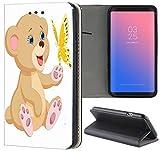 Samsung Galaxy S3 / S3 Neo Hülle Premium Smart Einseitig Flipcover Hülle Samsung S3 Neo Flip Case Handyhülle Samsung S3 Motiv (1197 Teddy Cartoon Bär Braun Weiß)