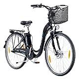 Elektrofahrrad mit 2 Akkus 26er PROPHETE TRIO Alu-Elektro-Fahrrad, 45 cm Rahmen 26