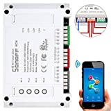 Sonoff 4CH is a 4-gang switch with din rail mounting. Sonoff 4CH 4 gang light switch supports to connect and control 4 electrical appliances, which can be turned on/off separately by the buttons or iOS/Android App EweLink. Besides, with the multi gan...