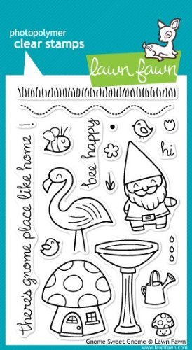 Gnome Sweet Gnome Clear Stamp Set (Lawn Fawn) by Lawn Fawn