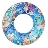 La vogue Baby Kleinkind Swimmreifen Aufblasbarer Schwimmring Schwimmsitz Schwimmhilfe Blau Außendurchmesser 60cm