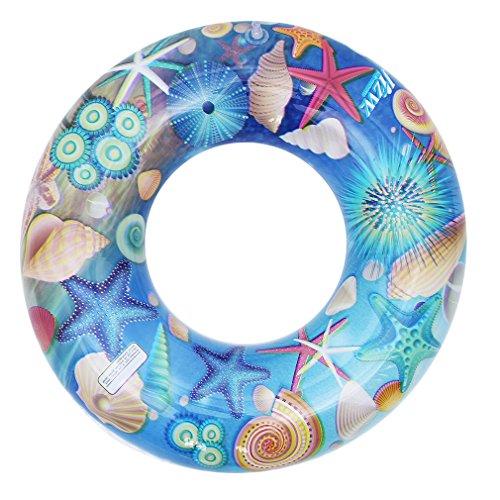 Eozy Baby Kinder Schwimmring Kleinkind Bunte Schwimmreifen Schwimmhilfe für 3-6 Jahre Blau Durchmesser 70cm