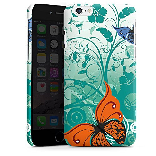 Apple iPhone 5 Housse Étui Silicone Coque Protection Papillon Fleur Fleur Cas Premium brillant
