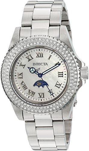 Invicta Sea base Bracciale orologio da polso da donna in acciaio inox gehã ¤ use + quarzo quadrante bianco analogico 23829