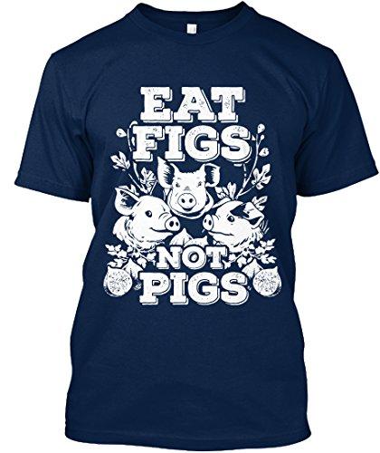 teespring Novelty Slogan T-Shirt - Funny Cute Vegan Vegetarian Eat Figs Not