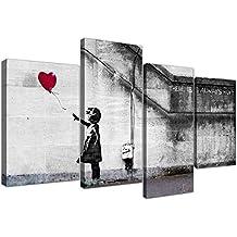 Wallfillers Canvas 4050 - Lienzo extragrande de Banksy (130 cm), diseño de niña con globo