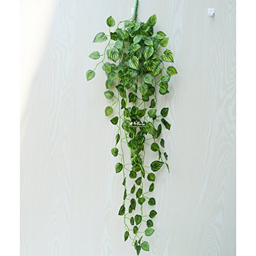 XMJR Wall decoration Emulation Anlage künstliche Blumen rattan Reben grün-shik Wand Indoor Water piping Blätter Klimaanlage dekorative blaue Wand grünes Blatt, ein Bündel von Wassermelone Blatt (Indoor-rebe-anlage)