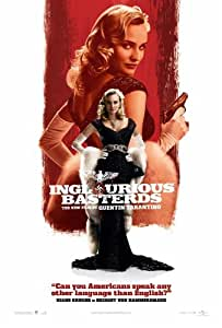 Bastardi Senza Gloria Poster Film P 11 pollici x 17 pollici (28 cm x 44 cm) Bruhl Diane Kruger Melanie Laurent Christoph Waltz Brad Pitt Daniel Roth Eli