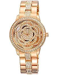 Hermosos Relojes de Diamantes incrustados WEIQIN señoras Reloj de Moda Gran Dial Watch