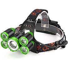 Stirnlampen, CICIYONER 35000 LM 5X CREE XM-L T6 LED Wiederaufladbare Scheinwerfer Reisekopf Taschenlampe