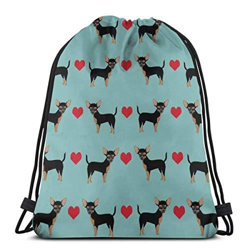 Tan Heart Hunderasse_864 Kordelzug Rucksack Rucksack Umhängetaschen Leichte Sporttasche zum Wandern Yoga Gym Schwimmen Travel Beach ()