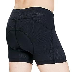 Inbike Culotes Ciclismo, Pantalones Interior Ciclismo para Hombre con 3D Gel Almohadilla de la Bicicleta (XL)