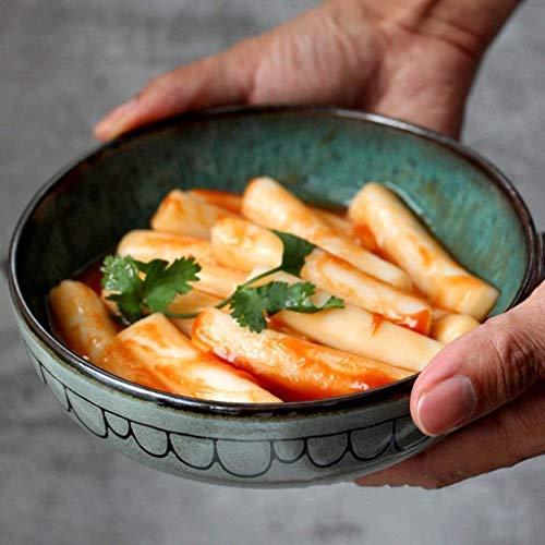 XXJ-Schüsseln Kreative Keramik-Geschirr im japanischen Stil Home Netter Salat Dish Sauce Bowl Obst Steak Teller Geschirr 6,5 Zoll Sauce Dish Bowl