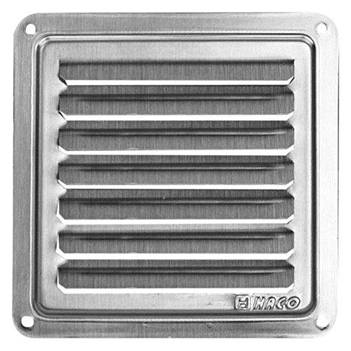Haco - Rejilla de ventilación (acero inoxidable, 105 x 105 mm)
