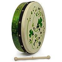 Waltons 38,1cm alle Kleeblättern Bodhran–irische handgearbeitet Instrument–Crisp & musikalischen Ton–Hartholz Schlägel enthalten W/Kauf