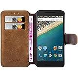 Hochwertige PU Leder-hülle in Wildlederoptik für LG Google Nexus 5x von mangao® Case Handyhüllen