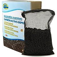 BPS (R) Carbón Activo Súper Acuario Material Filtrante para de Agua Dulce y de Mar de Alta calidad 500g BPS-6748